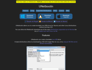 unetbootin.sourceforge.net screenshot