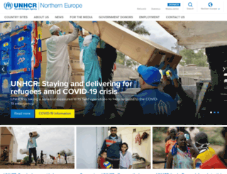 unhcr-northerneurope.org screenshot