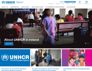 unhcr.ie screenshot