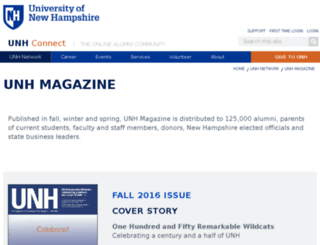 unhmagazine.unh.edu screenshot