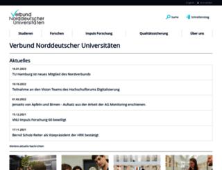 uni-nordverbund.de screenshot