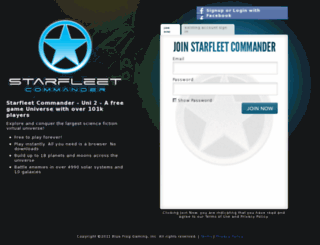 uni2.playstarfleet.com screenshot