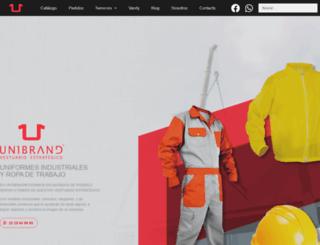unibrand.com.mx screenshot