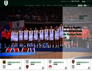 unicajabaloncesto.com screenshot