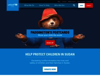 unicef.ca screenshot