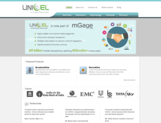 uniceltech.com screenshot