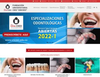 unicieo.edu.co screenshot