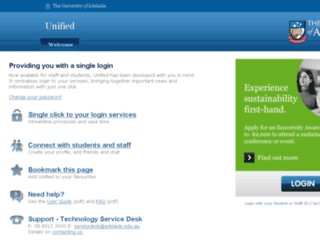 unified.adelaide.edu.au screenshot