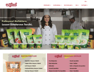 unifood.com.tr screenshot