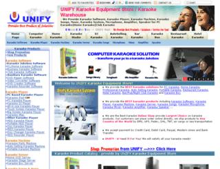 unifykaraoke.com screenshot