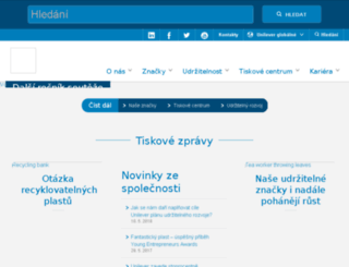 unilever.cz screenshot