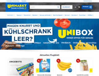 unimarkt.at screenshot