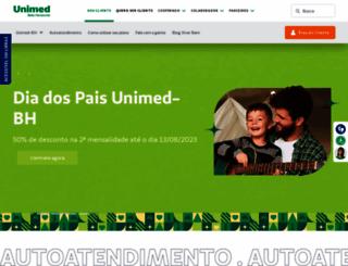 unimedbh.com.br screenshot