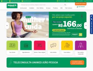 unimedjp.com.br screenshot