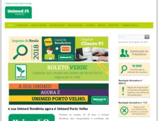 unimedrondonia.com.br screenshot