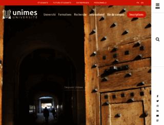 unimes.fr screenshot