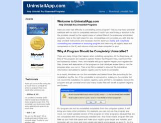 uninstallapp.com screenshot