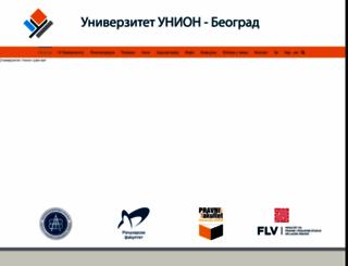 union.edu.rs screenshot
