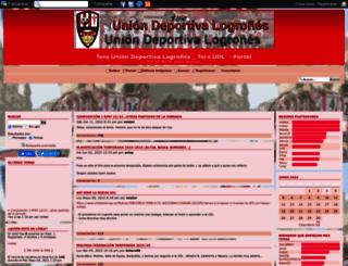 uniondeporlogrones.foroactivo.com screenshot