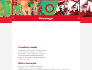 unionmangas.com.br screenshot