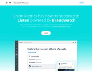 unionmetrics.com screenshot