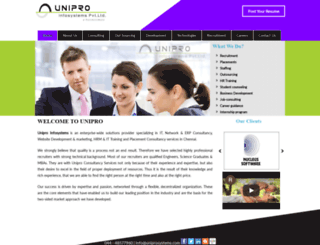 uniproinfosystems.com screenshot