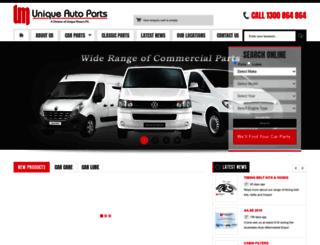 uniqueautoparts.com.au screenshot