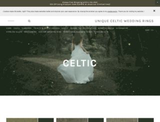 uniquecelticweddingrings.com screenshot