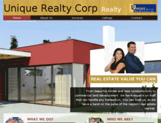 uniquerealtycorp.com screenshot