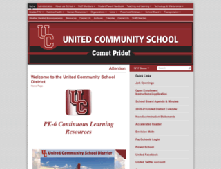 united.k12.ia.us screenshot