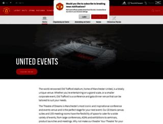 unitedevents-manutd.com screenshot