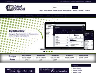 unitedfinancialcu.org screenshot