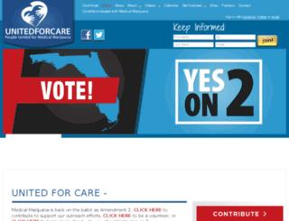 unitedforcare.nationbuilder.com screenshot