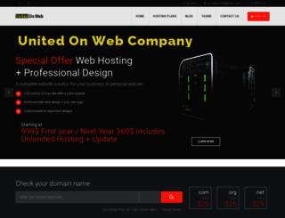 unitedonweb.com screenshot
