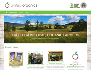 unitedorganics.com.au screenshot