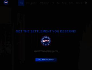 unitedpublicadjusters.org screenshot