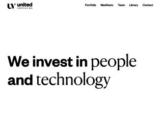 unitedventures.it screenshot