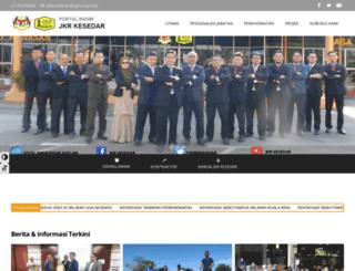 unitjkrkesedar.gov.my screenshot