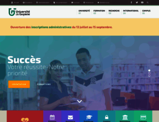 univ-guyane.fr screenshot