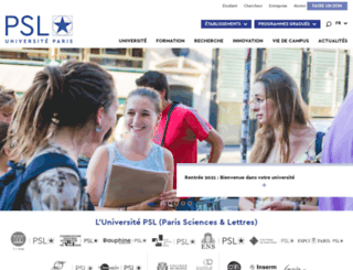 univ-psl.fr screenshot