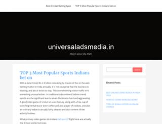 universaladsmedia.in screenshot