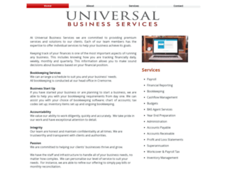 universalbusiness.com.au screenshot