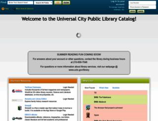 universalcity.biblionix.com screenshot
