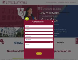 universidadvictoria.edu.mx screenshot