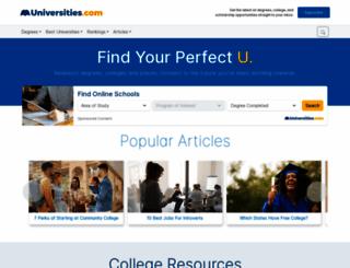 universities.com screenshot