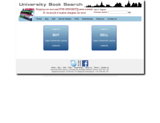 universitybooksearch.co.uk screenshot