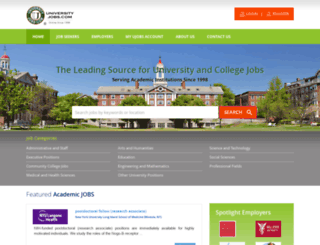 universityjobs.com screenshot