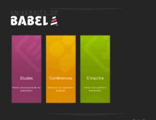 universityof.babel31.com screenshot