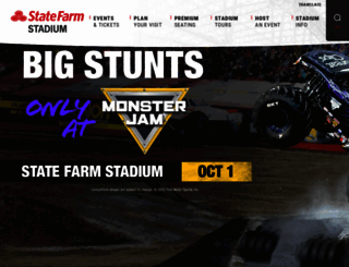 universityofphoenixstadium.com screenshot