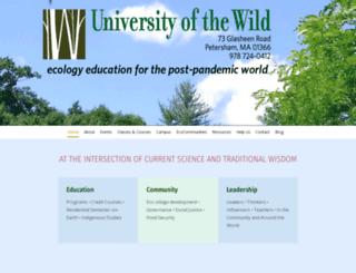 universityofthewild.org screenshot